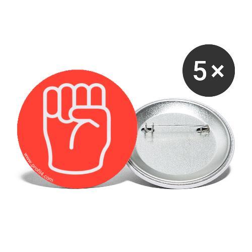Main Dominant DISC - Lot de 5 grands badges (56 mm)