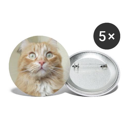 Gatto Ninni - Confezione da 5 spille grandi (56 mm)