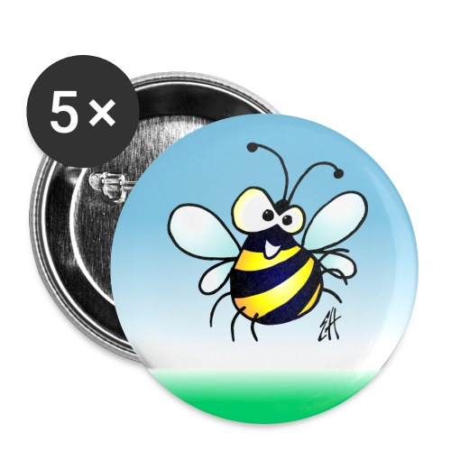 Bee - Buttons large 2.2''/56 mm(5-pack)