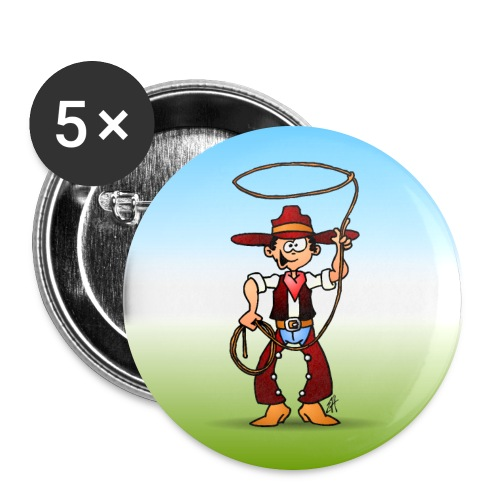 Cowboy with a lasso - Buttons large 2.2''/56 mm (5-pack)