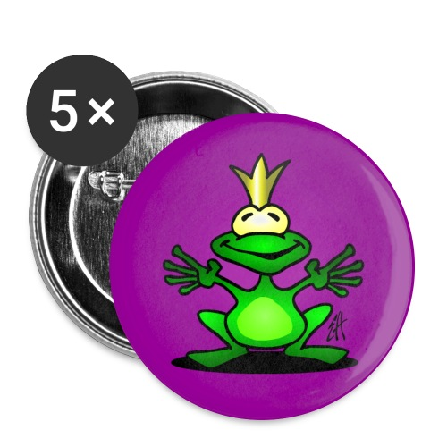 Frog prince - Buttons large 2.2''/56 mm (5-pack)