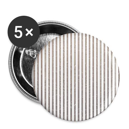Pinstripe Muster Streifen Muster gestreift weiß - Buttons large 2.2''/56 mm(5-pack)