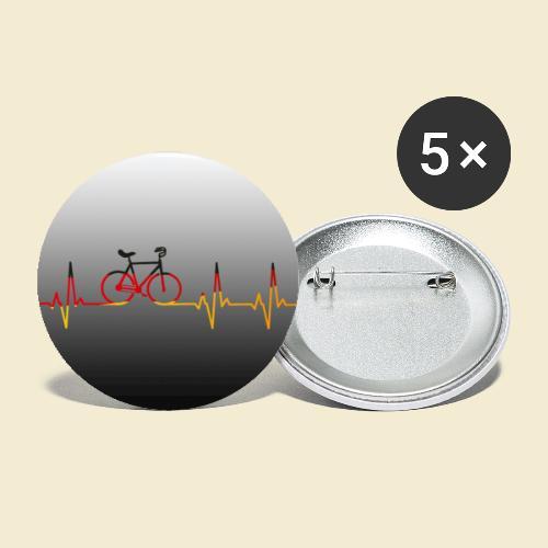 Kunstrad Heart Monitor Maske - Buttons groß 56 mm (5er Pack)