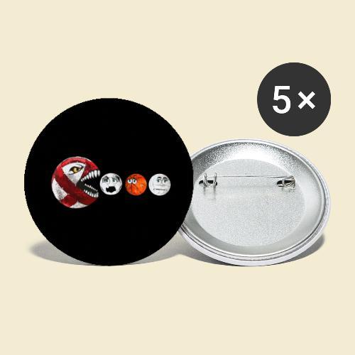 Radball | Red Man Maske - Buttons groß 56 mm (5er Pack)