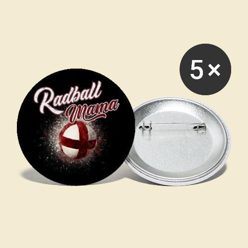 Radball | Mama Maske - Buttons groß 56 mm (5er Pack)
