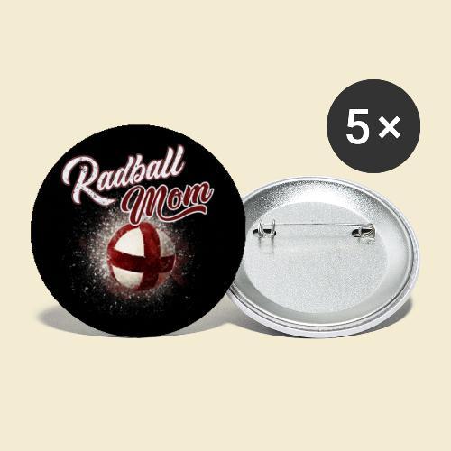 Radball | Mom Maske - Buttons groß 56 mm (5er Pack)