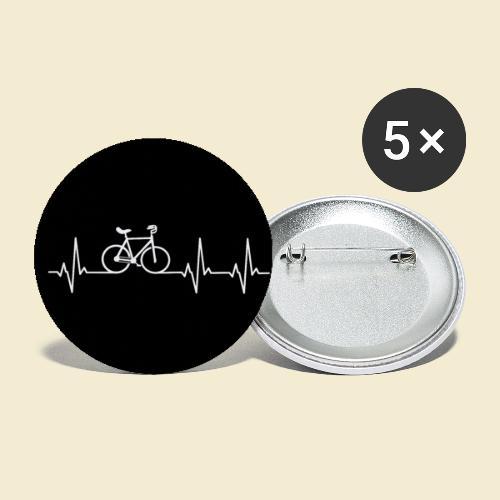 Kunstrad | Heart Monitor Maske - Buttons groß 56 mm (5er Pack)