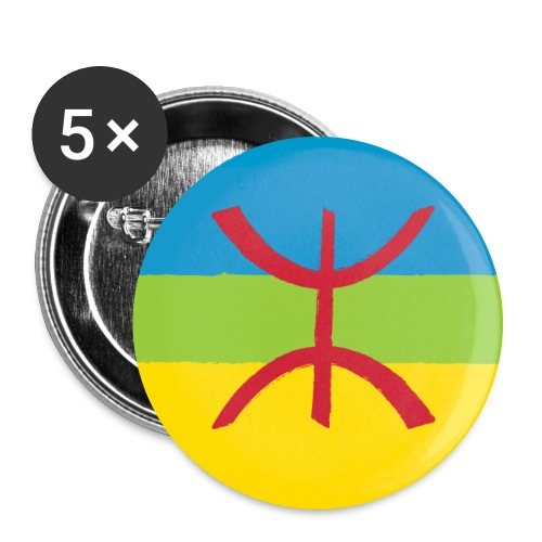 Amazigh Flag Big - Buttons groot 56 mm (5-pack)