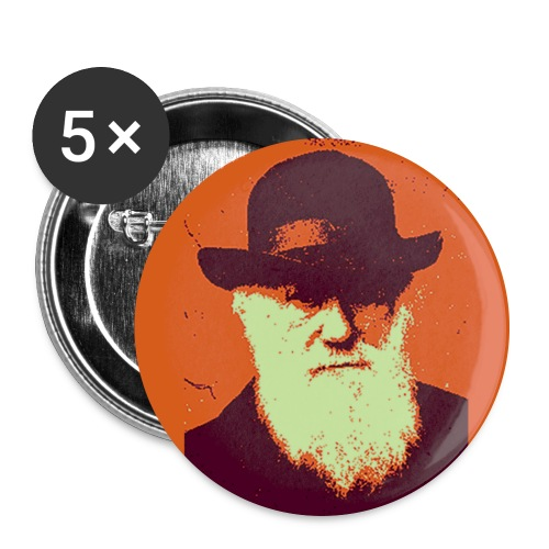darwin warhol button - Buttons large 2.2''/56 mm (5-pack)