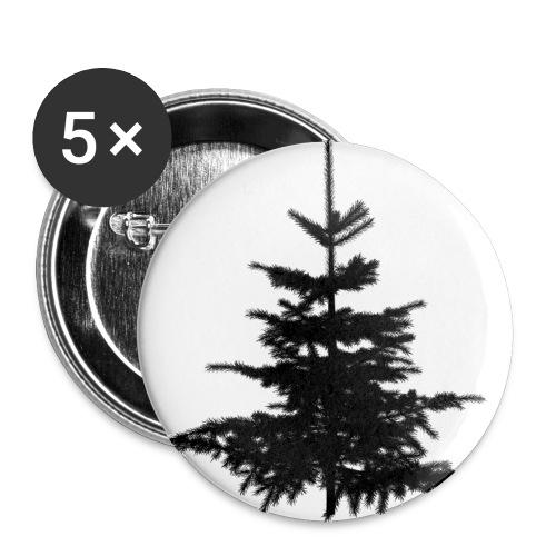 tannenbaum - Buttons groß 56 mm (5er Pack)