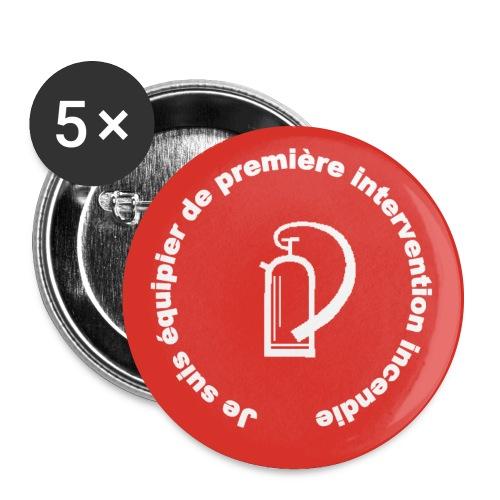 logo equipier incendie - Lot de 5 grands badges (56 mm)