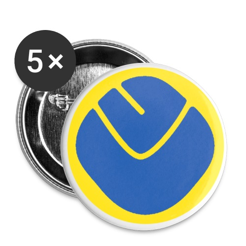 smiley invesrse - Buttons large 2.2''/56 mm (5-pack)