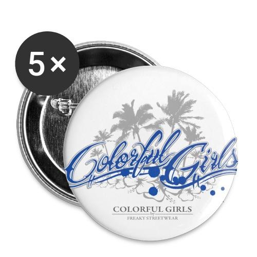 Colorful Girls Logo - Buttons groß 56 mm (5er Pack)