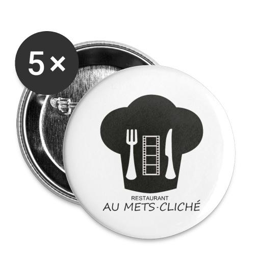 Au Mets-Cliché - Lot de 5 grands badges (56 mm)