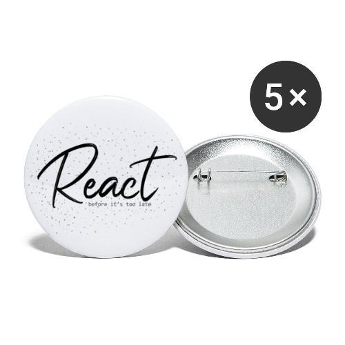 React - Paquete de 5 chapas grandes (56 mm)
