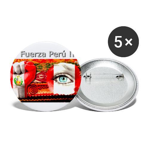Telar Fuerza Peru I. - Buttons groß 56 mm (5er Pack)