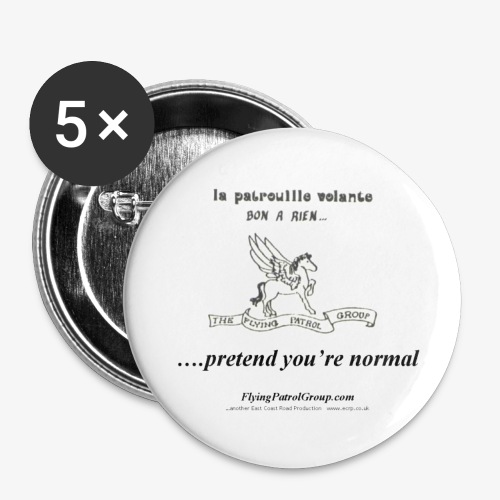 pretend t - Buttons large 2.2''/56 mm(5-pack)