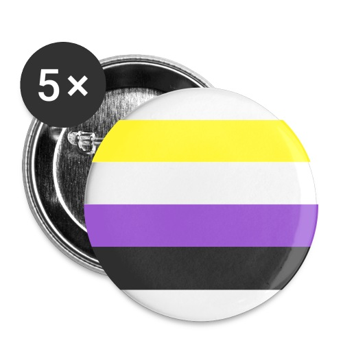 Muunsukupuolinen - Rintamerkit isot 56 mm (5kpl pakkauksessa)