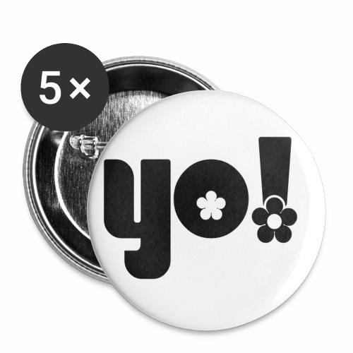 Yo power √ - Buttons/Badges stor, 56 mm (5-pack)