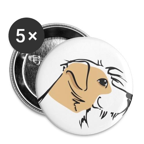 IGRK Kromikopf groß - Buttons groß 56 mm (5er Pack)