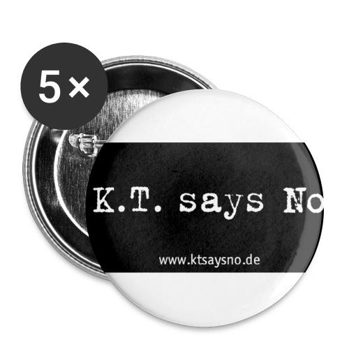 kopie von ktsaysnobanner 2 p2 - Buttons groß 56 mm (5er Pack)