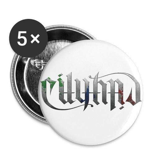 √ Cityard Ambigram Heavy Metal - Buttons/Badges stor, 56 mm (5-pack)