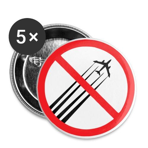 No GeoengineeringbgWhiter - Stor pin 56 mm (5-er pakke)