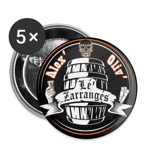 Logo rond Lé Zarrangés - Lot de 5 grands badges (56 mm)