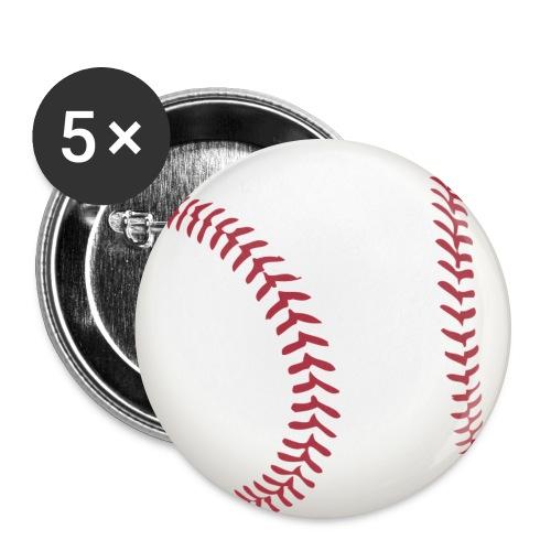 Baseball - Buttons groß 56 mm (5er Pack)