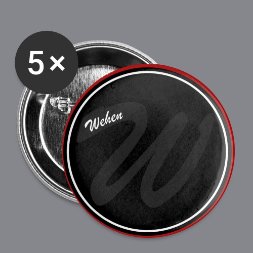 Wehen button - Buttons groß 56 mm (5er Pack)