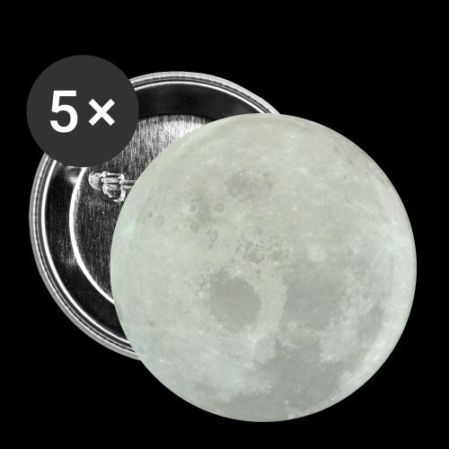 Mond - Buttons groß 56 mm (5er Pack)