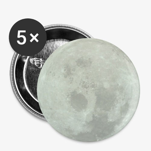 Mond - Buttons groß 56 mm (5er Pack)