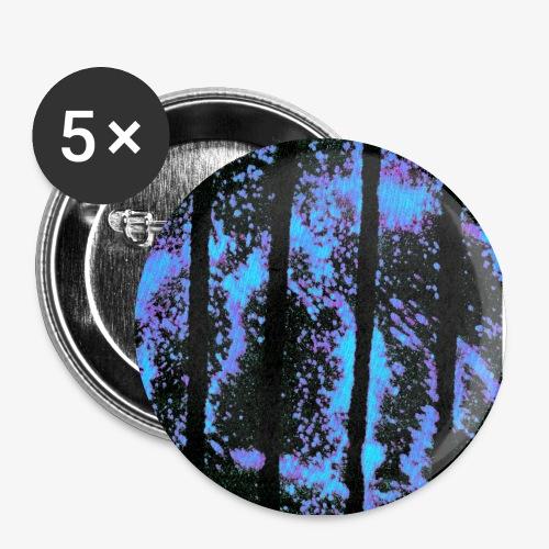 Streifen im All - Buttons groß 56 mm (5er Pack)