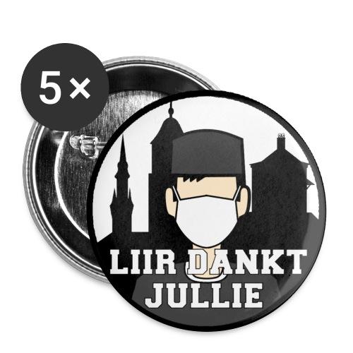 LIIR DANKT DE ZORG - Buttons groot 56 mm (5-pack)