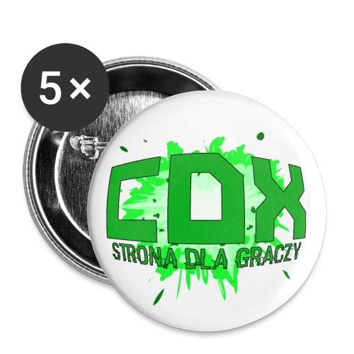 cdx-logo-v2 - Przypinka duża 56 mm (pakiet 5 szt.)