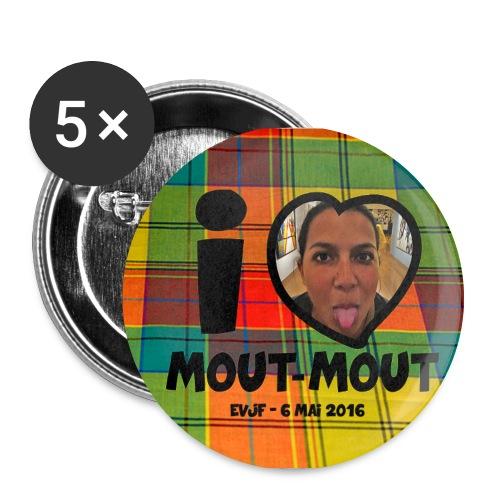 badge4 - Lot de 5 grands badges (56 mm)