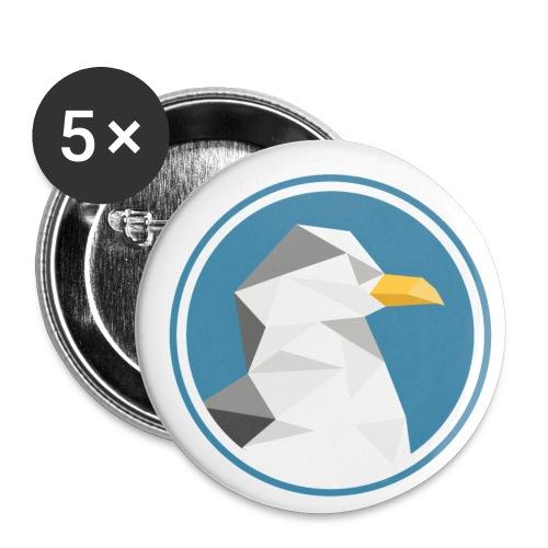 Möwe Silhouette Meer Tier Geschenk - Buttons groß 56 mm (5er Pack)