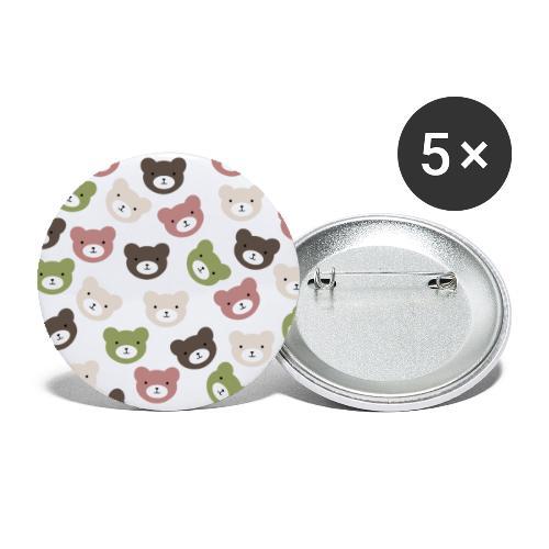 Bears - Paquete de 5 chapas grandes (56 mm)