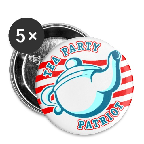 TEA PARTY PATRIOT - Buttons groß 56 mm (5er Pack)