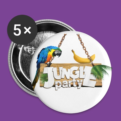 logo Jungle Party png - Lot de 5 grands badges (56 mm)
