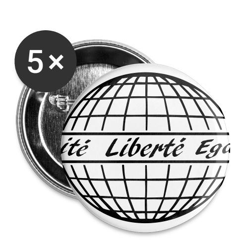 liberté egalité fraternité free world - Buttons groß 56 mm (5er Pack)
