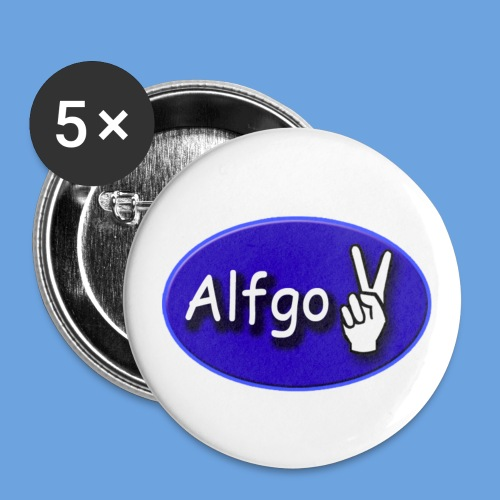 alfgo2 damen-shirt - Buttons groß 56 mm (5er Pack)