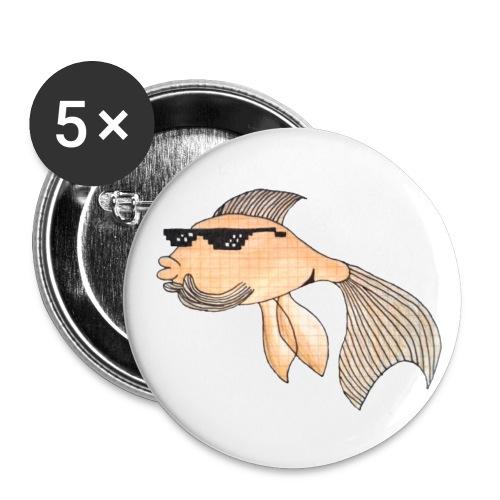 gudrun goldfisch Kopie - Buttons groß 56 mm (5er Pack)
