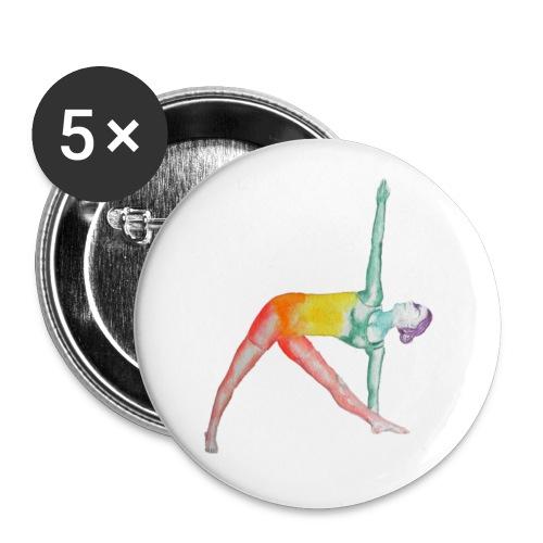 Utthita Trikonasana - Buttons groß 56 mm (5er Pack)