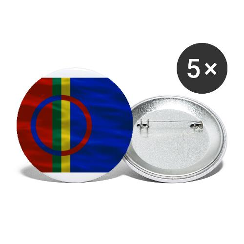 Sapmi flag - Stor pin 56 mm (5-er pakke)