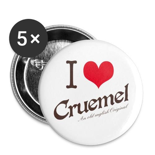 cruemel i heart farbe - Buttons groß 56 mm (5er Pack)