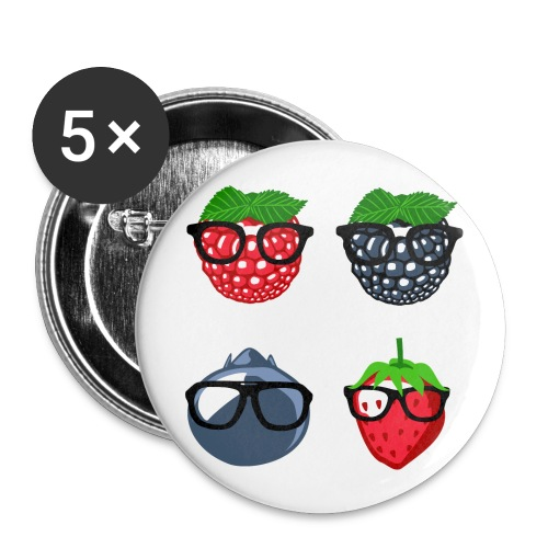 Berry Bunch - Buttons groß 56 mm (5er Pack)
