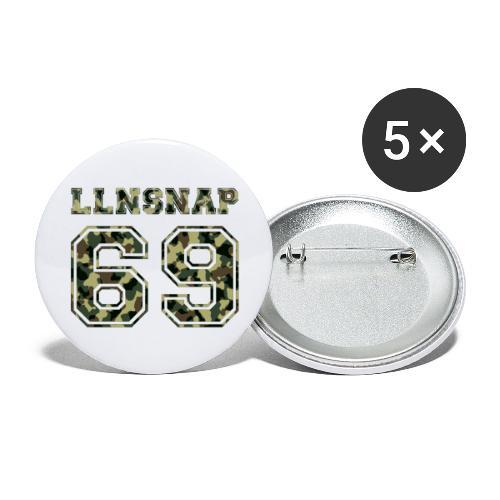 LLNsnap 69 (camo) - Lot de 5 grands badges (56 mm)