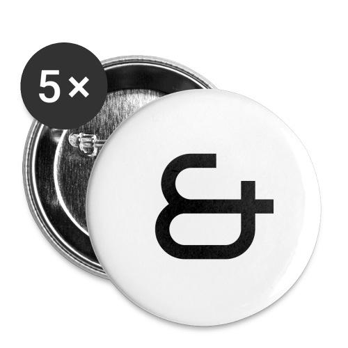& - Lot de 5 grands badges (56 mm)