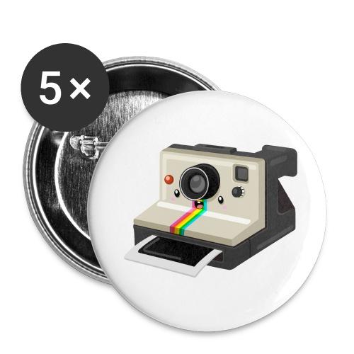 Polaroid 1000 kawaii - Lot de 5 grands badges (56 mm)